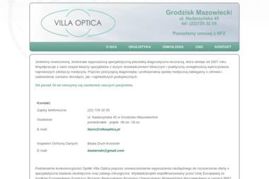 Villa Optica - Okulista Grodzisk Mazowiecki