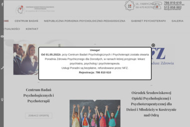 Centrum Badań Psychologii i Psychoterapii dr Joanna Wichlińska-Pakirska - Psycholog Kostrzyn nad Odrą