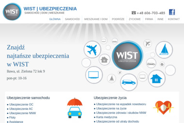 WIST UBEZPIECZENIA - Ubezpieczenie samochodu Iława