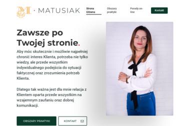 Kancelaria Adwokacka Adwokat Weronika Matusiak - Kancelaria prawna Ciechanów