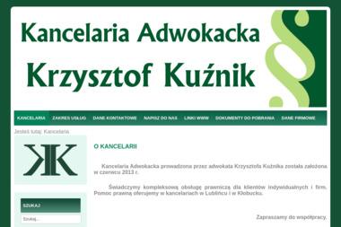 Kancelaria Adwokacka Krzysztof Kuźnik - Windykacja Lubliniec