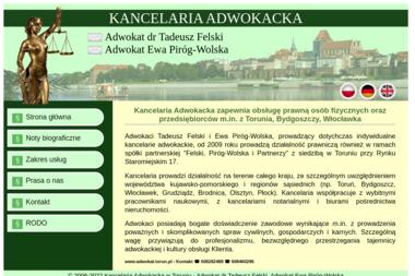 Kancelaria Adwokacka - Adwokat dr Tadeusz Felski, Adwokat Ewa Piróg-Wolska - Porady Prawne Toruń