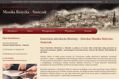 Kancelaria Adwokacka - Adwokat Monika Różycka-Stańczak - Obsługa prawna firm Brzeziny