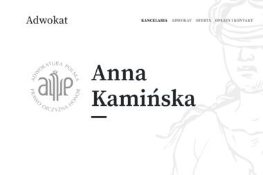 Adwokat Anna Kamińska - Kancelaria Prawna Tychy