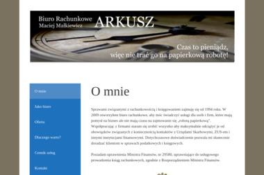 Biuro Rachunkowe ARKUSZ - Rachunkowość Wołów