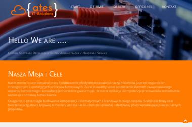 """Firma Handlowo-Usługowo-Produkcyjna """"ATeS IT-Solutions"""" - Inżynieria Oprogramowania Dębica"""