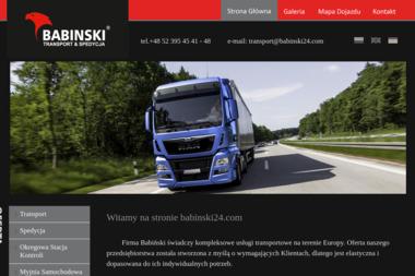 """""""BABIŃSKI"""" - Transport międzynarodowy Łąg"""
