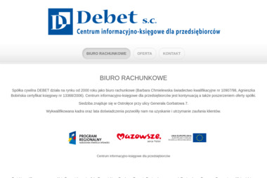Centrum Informacyjno Księgowe dla Przedsiębiorców DEBET - Usługi finansowe Ostrołęka