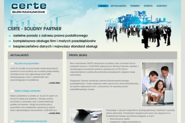 Certe - Biuro Rachunkowe - Usługi finansowe Malbork