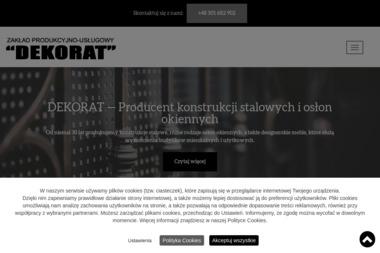 Zakład produkcyjno-usługowy DEKORAT - Ogrodzenia kute Koszalin