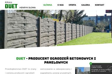 P.P.H.U. Duet Henryk Słoma - Ogrodzenia betonowe Tomiczki