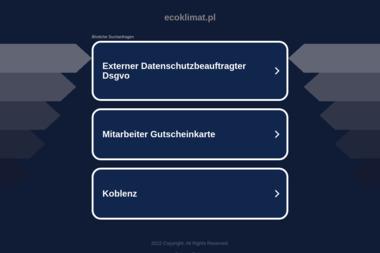 ECOKLIMAT - Odśnieżanie dróg i placów Aleksandrów Łódzki