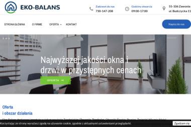 EKO-BALANS - Stolarka Aluminiowa Zawonia