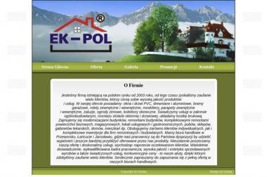 EK-POL - Okna aluminiowe Łańcut