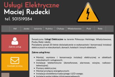 Maciej Rudecki Usługi Elektryczne - Alarmy Hel