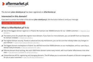 JOKER DETEKTYWI - Kancelaria prawna Myślenice