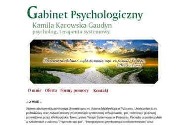 Kamila Karowska - Gaudyn - Gabinet Psychologiczny - Psycholog Wągrowiec