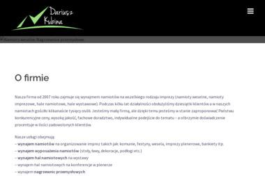 Namioty weselne Dariusz Kubina - Namioty Plenerowe Siedliszcze