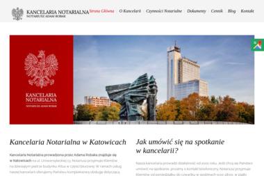 Kancelaria Notarialna - Notariusz Adam Robak - Notariusz Katowice