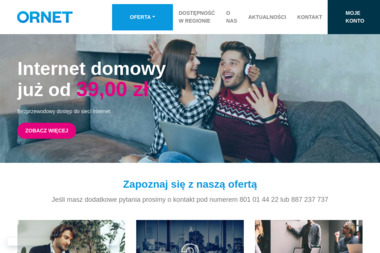 Ornet Sp. z o.o. - Dostawcy internetu, usługi telekomunikacyjne Lubin