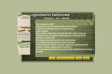 FIRMA HANDLOWA Marcin Pocentek - Sprzedaż Ogrodzeń Betonowych Luboń