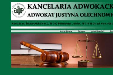 Kancelaria Adwokacka Justyna Olechnowicz - Adwokat Bolesławiec