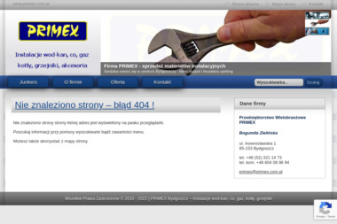 Przedsiębiorstwo Wielobranżowe PRIMEX - Instalacje gazowe Bydgoszcz