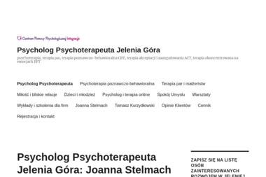 """Centrum Pomocy Psychologicznej """"Integracja"""" s.c. - Psycholog Jelenia Góra"""