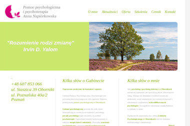 Pomoc Psychologiczna i Psychoterapia - Anna Napiórkowska - Psycholog Oborniki