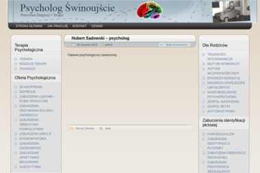 Hubert Sadowski - psycholog - Firmy Świnoujście