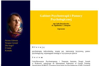 Gabinet Psychoterapii i Pomocy Psychologicznej mgr Zofia Burzykowska - Psycholog Zakopane