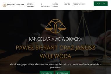 Kancelaria Adwokacka - adwokaci Paweł Sierant oraz Janusz Wojewoda - Adwokat Tarnobrzeg