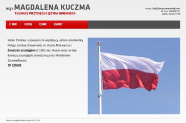 Tłumacz Przysięgły Języka Duńskiego mgr Magdalena Kuczma - Tłumacz Języka Angielskiego Swarzędz