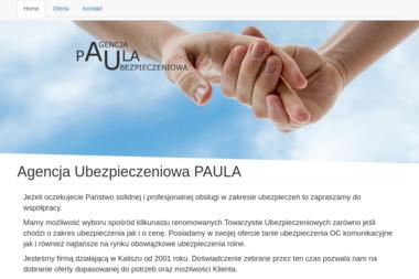 """Agencja Ubezpieczeniowa """"Paula"""" - Ubezpieczenie Pracownicze Kalisz"""