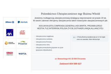 Pośrednictwo Ubezpieczeniowe mgr Bożena Witold - Ubezpieczenia Grupowe Chrzanów