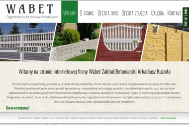 WABET Zakład Betoniarski - Ogrodzenia Nowoczesne Łęczna