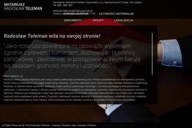 Kancelaria Notarialna - Radosław Teleman - Usługi Prawne Piotrków Trybunalski