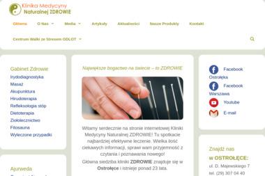 Klinika Medycyny Naturalnej ZDROWIE - Osteopata Ostrołęka