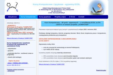 Zakład Usług Informatycznych Teresa Kotek - Szkolenia Przemyśl