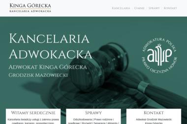 Kancelaria Adwokacka - Adwokat Kinga Górecka - Pomoc Prawna Grodzisk Mazowiecki