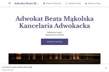 Beata Mąkolska - Kancelaria Adwokacka - Kancelaria prawna Łowicz