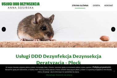 Usługi DDD Dezynsekcja Anna Sosińska - Dezynsekcja i deratyzacja Płock