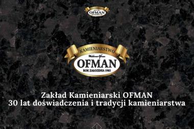 """ZAKŁAD KAMIENIARSKI """"OFMAN"""" - Kamieniarz Szczecin"""