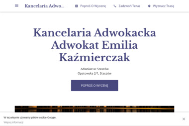 Kancelaria Adwokacka - Adwokat Emilia Kaźmierczak - Adwokat Staszów