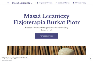 Masaż Leczniczy, Fizjoterapia - Burkat Piotr - Masaże Relaksacyjne Busko-Zdrój