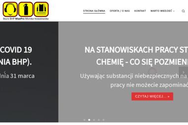 """Biuro BHP """"MaxPro"""" Monika Kowalewska - Szkolenie Wstępne BHP Gdynia"""