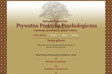 Barbara Ślusarczyk Prywatna Praktyka Psychologiczna - Psycholog Szczytno