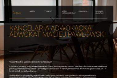Kancelaria Adwokacka - Adwokat Maciej Pawłowski - Porady Prawne Ostrów Wielkopolski