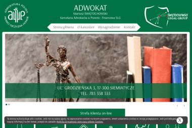 Adwokat Mariusz Świętochowski - Kancelaria Adwokacka & Prawno-Finansowa SLG - Adwokat Spraw Karnych Siemiatycze