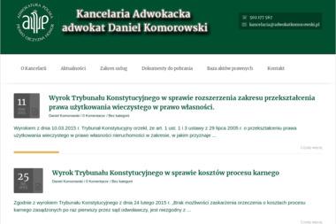 Kancelaria Adwokacka - adwokat Daniel Komorowski - Adwokat Prawa Karnego Łuków